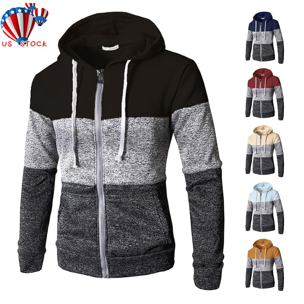 Men/'s Winter Slim Fit Hoodie Warm Sweatshirt Coat Jacket^Sweater,Jumper