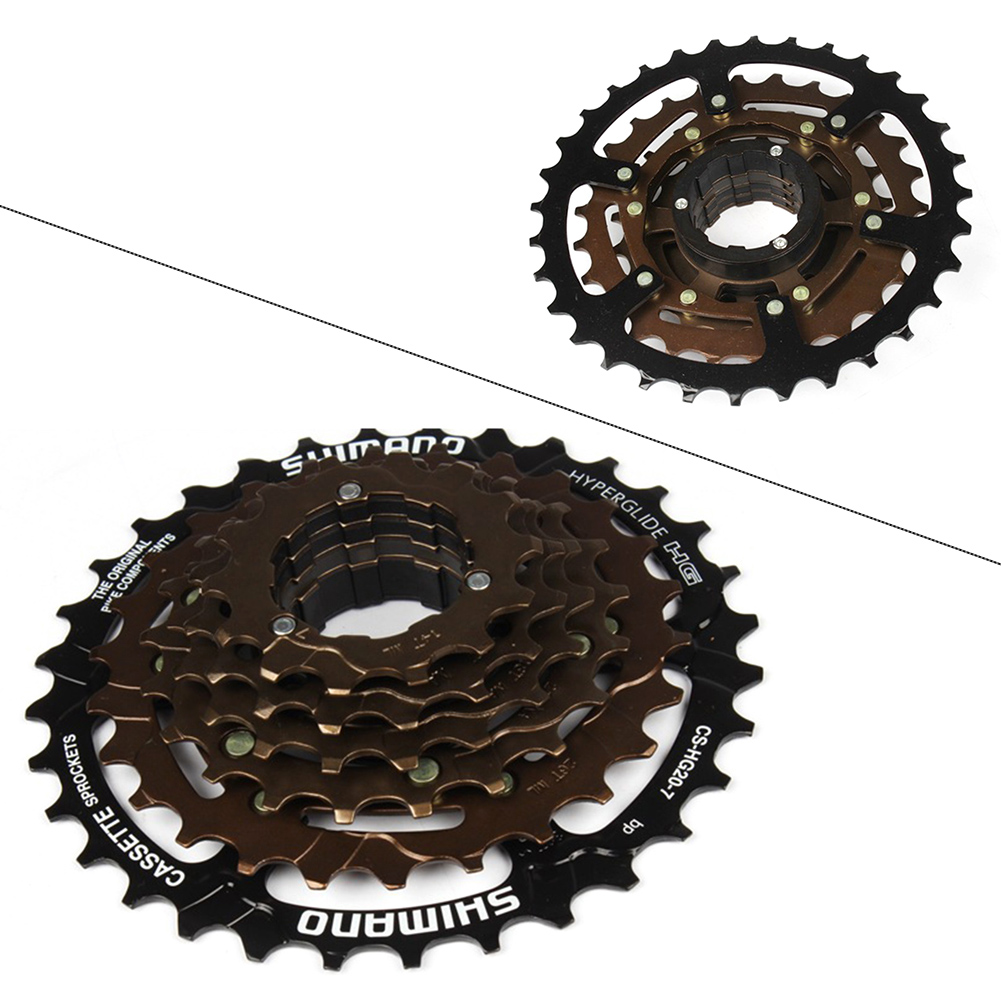 7-Speed Road//MTB//Hybrid Bike Cassette 12-32 CS-HG20-7 HyperGlide 12-32T