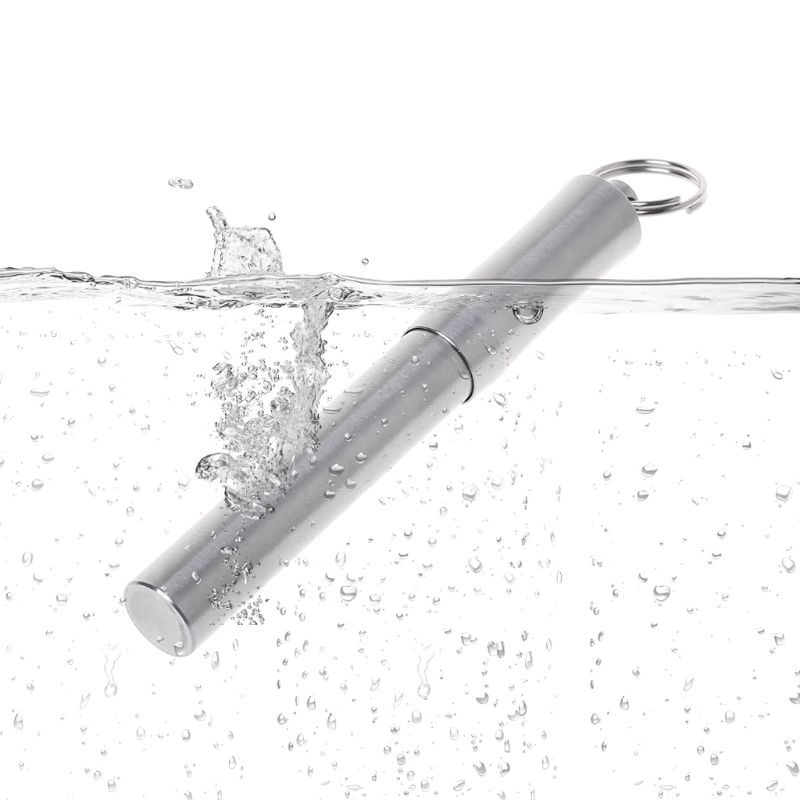 1Pc Portable Titanium Alloy Waterproof Toothpick Outdoor Traveling Tool Silver R