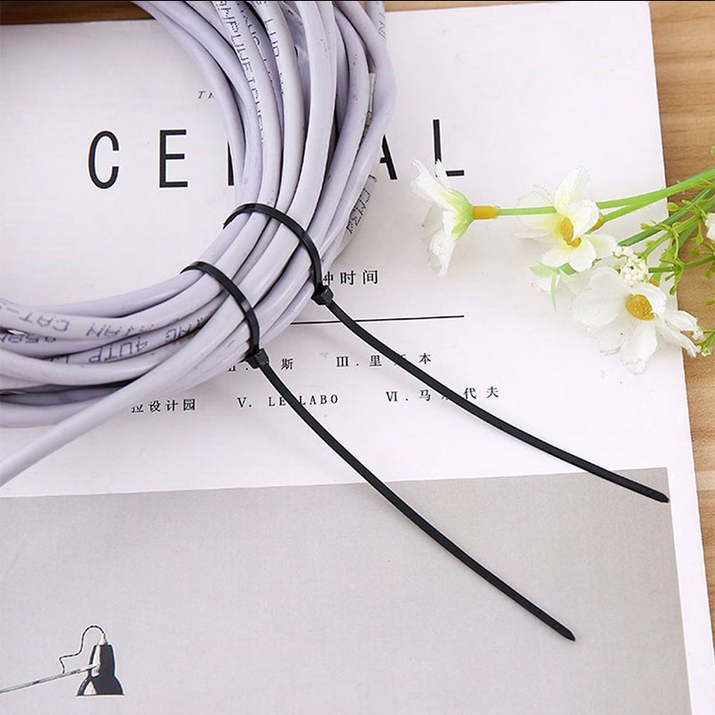 Tie Black//White Multifunction Zip Wire Quality 20cm Nylon Cable Self-Locking