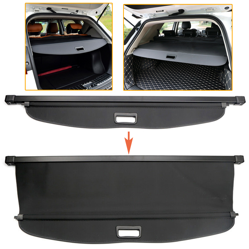 2011-2018 for Mazda5 for Mazda 5 Black Interior Retractable Rear Trunk Cargo Luggage Security Shade Cover