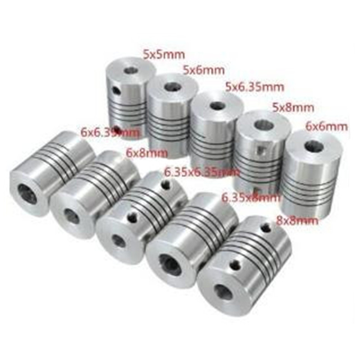 6.35//8mm Flexible Shaft Coupling Rigid CNC Stepper Motor Coupler Connector