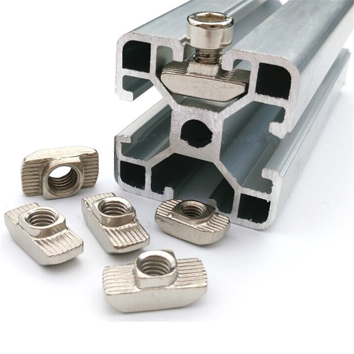 uxcell M8 Thread Drop in T-Nuts 10 Pcs for 40 Series T-Slot Aluminum Extrusion