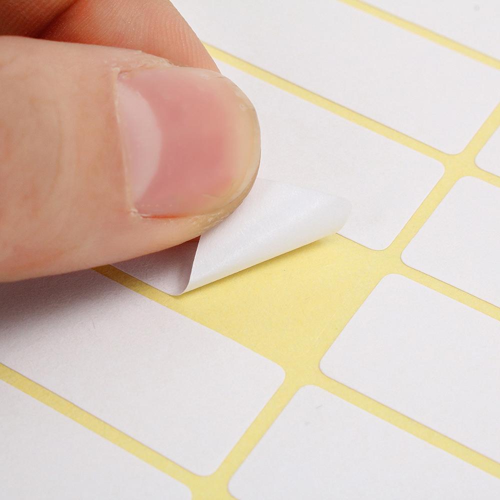 Weiß Preis Aufkleber Selbstklebende Etiketten Leere Name Anzahl Tags 15 Blatt