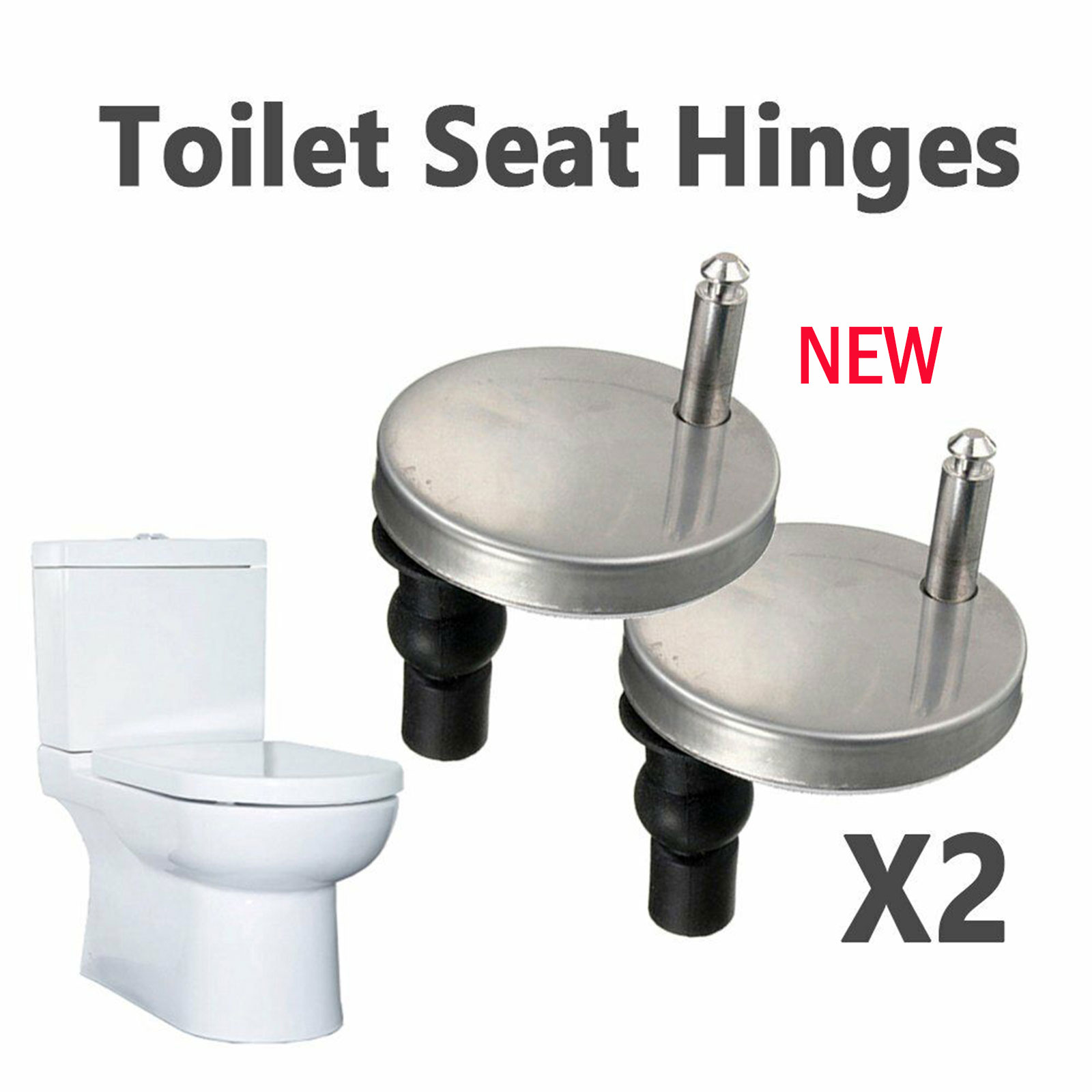 Amazing Details About 2X Quality Top Fix Wc Toilet Seat Hinge Fitting Quick Release Hinges Uk Ship Machost Co Dining Chair Design Ideas Machostcouk