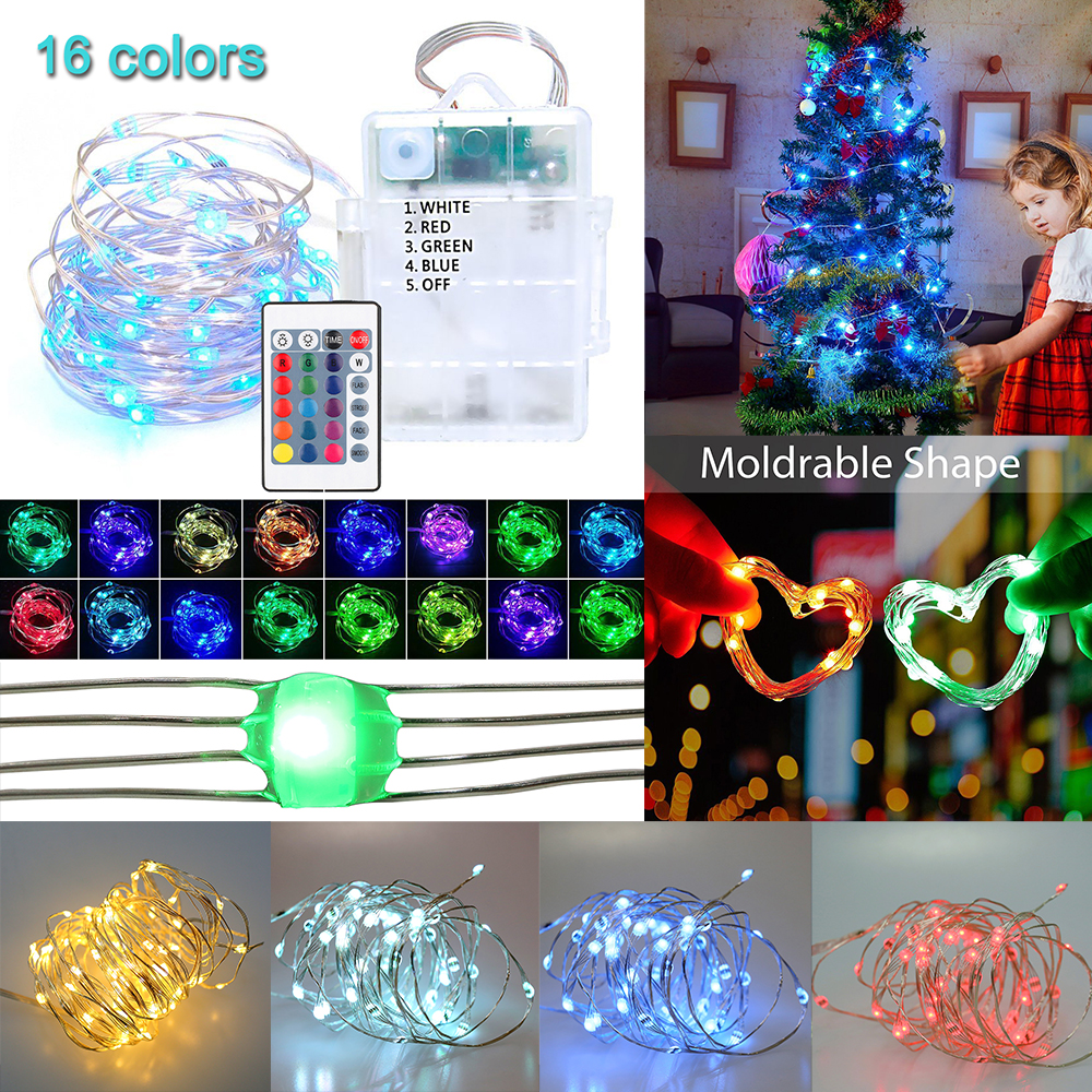 Multi-Color Changing 16 Colors LED String Lights 4 wires LED ... on light wiring diagram, three led work light diagram, 3 wire switch wiring diagram,