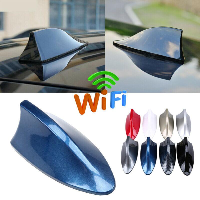 AM//FM Radio Haifischflosse Antenne Funksignal Universal Auto Blau Dach Antenne