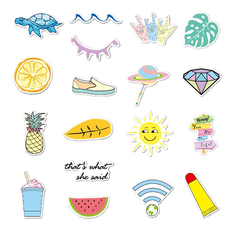 Waterproof Vsco Aesthetic Stickers Trendy 35PCS Big Cute ...
