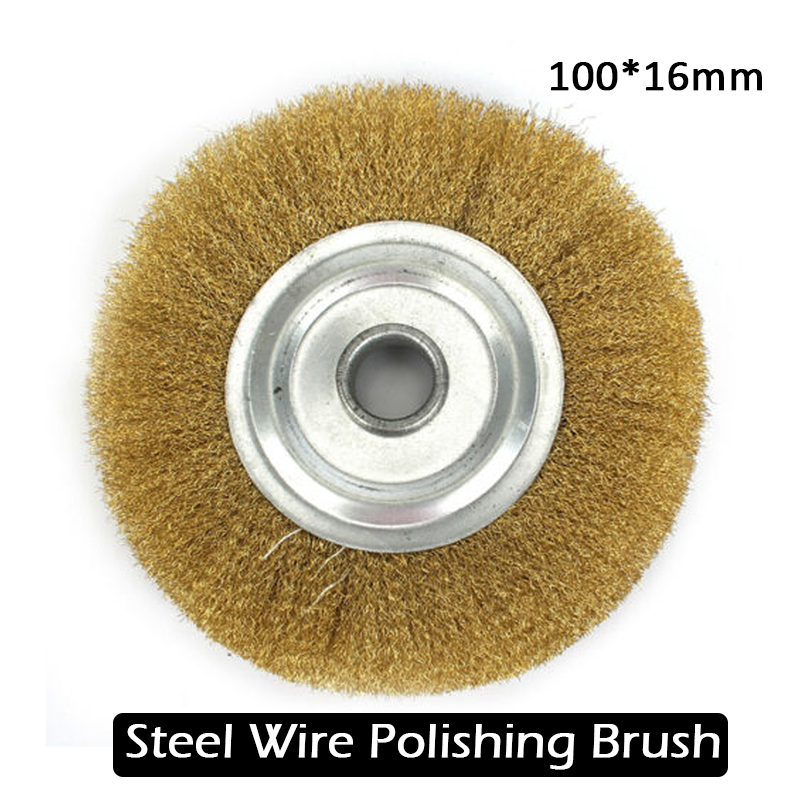 Small Durable Motorbike Grinder Polished Derusting Metal Wire Brush Tool