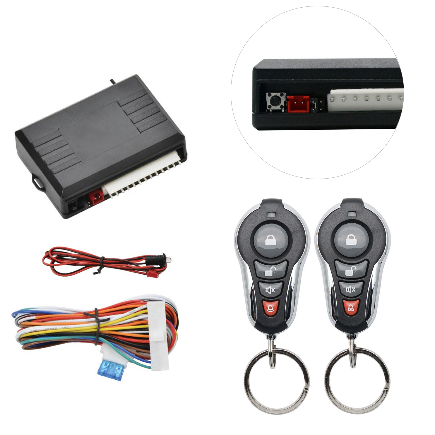 MASO Car Alarm System Universal Car Remote Central Locking Kit ...