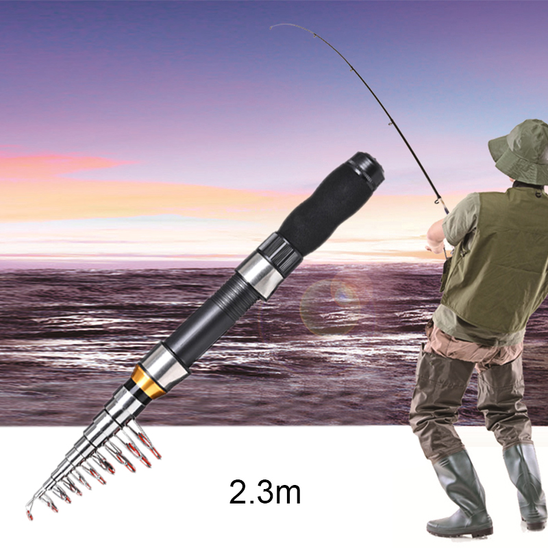 Fishing Rod Portable Telescopic Carbon 3.4-6.3M Fishing Pole Ultralight Pole Hot