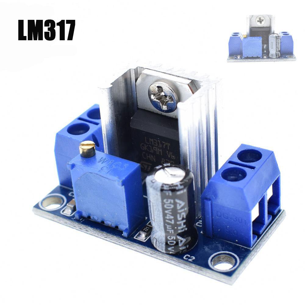 R/égulateur de tension LM317 r/églable Affichage num/érique de la tension R/égulateur lin/éaire de la carte dalimentation Module alimentation r/églable Carte ajustable R/égulateur de tension lin/éaire