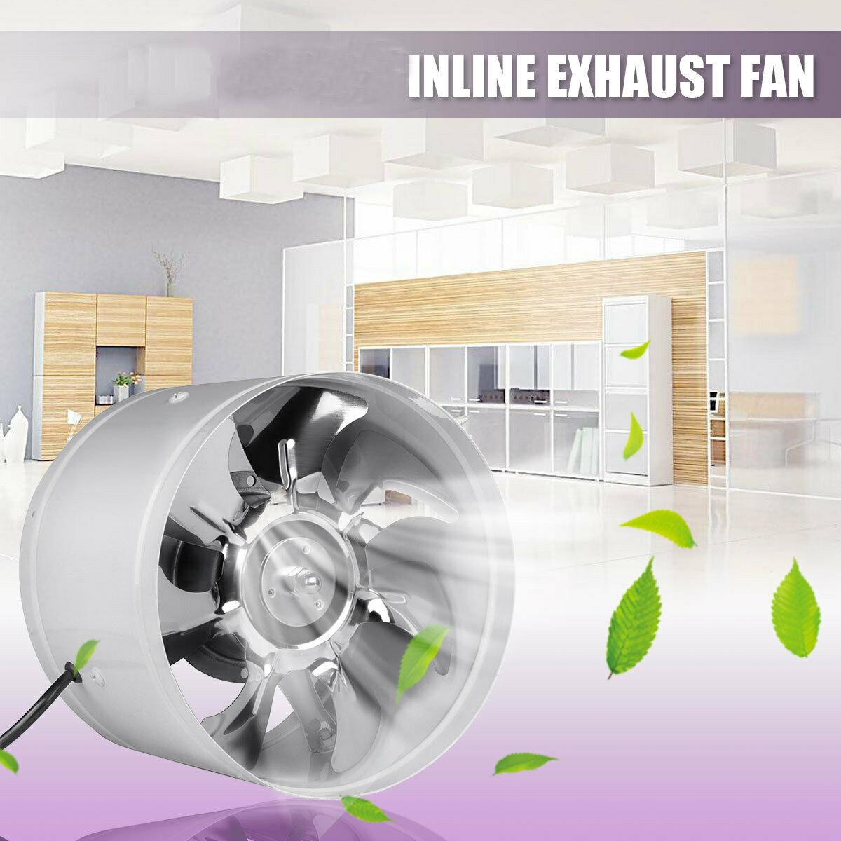 """6/"""" INLINE CONDUIT VENTILATEUR D/'appoint cuisine salle de bain Extracteur Ventilateur d/'Extraction Ventilateur d/'Air"""