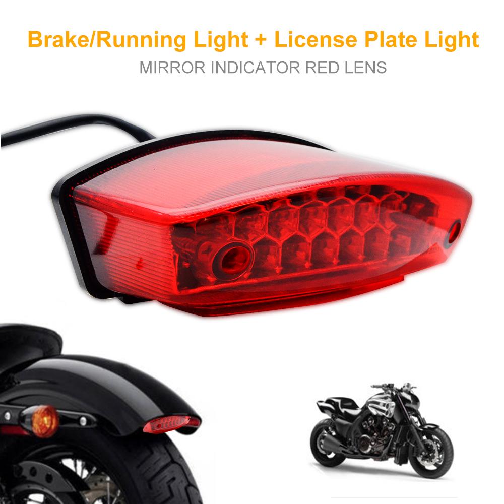 Motorcycle Bike LED Brake Stop Turn Signal Running License Plate Lamp Universal