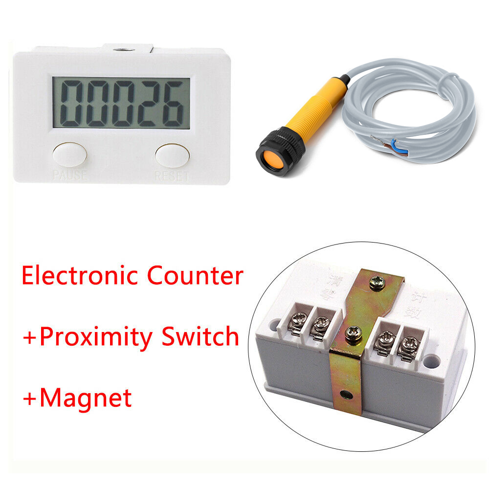 New 5 Digit Digital Electronic Counter Puncher Magnetic Inductive