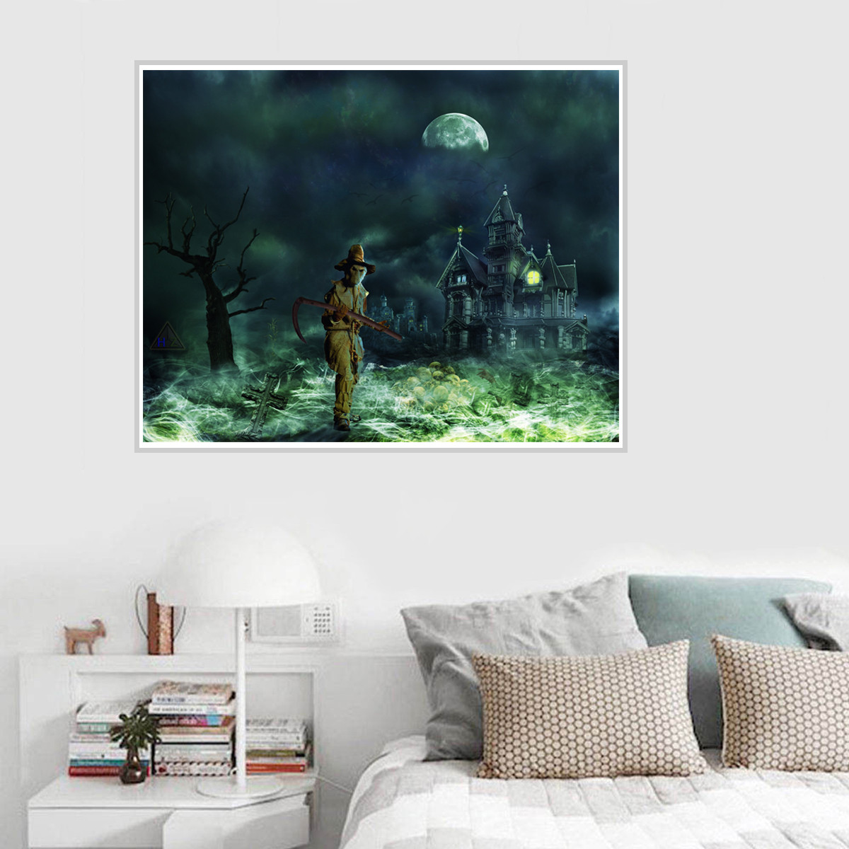 Abstract Horror Art Canvas Poster Unframed Picture Halloween Party Wall  Decor