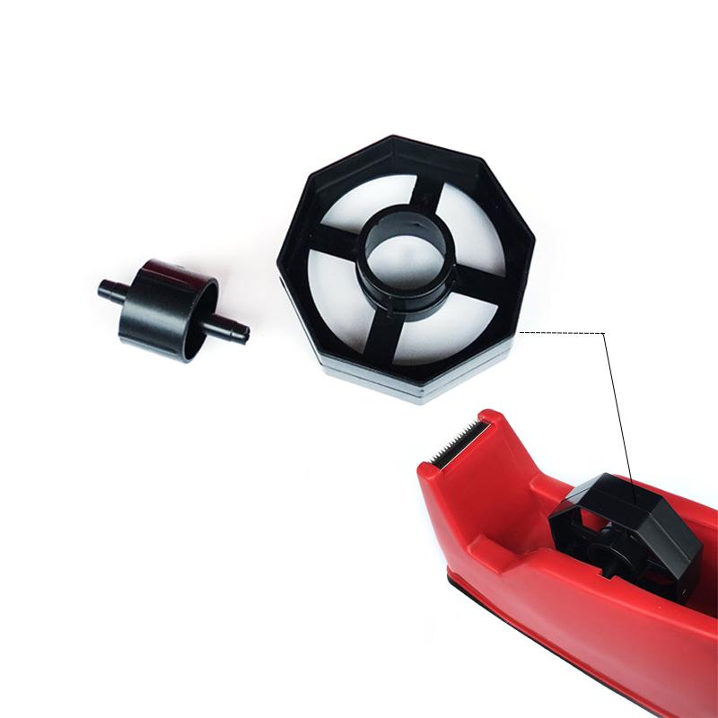Small Chrome Tape Dispenser Non Slip 19mm Sellotape Branded