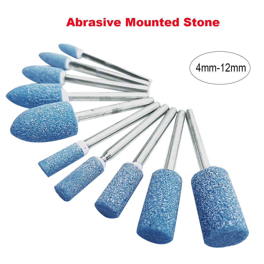 50//100x 1//8/'/' Shank Abrasive Mounted Stone Rotary Tool Grinding Wheel For Dremel