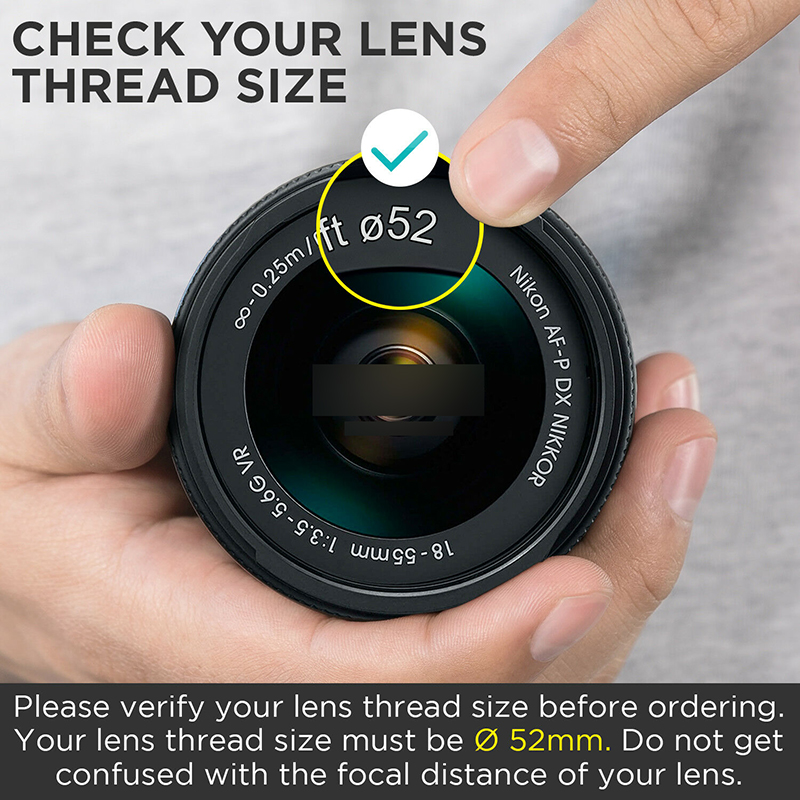 52MM 0.35x Altura Photo HD Fisheye Wide Angle Lens 2-in-1 Detachable Macro Lens
