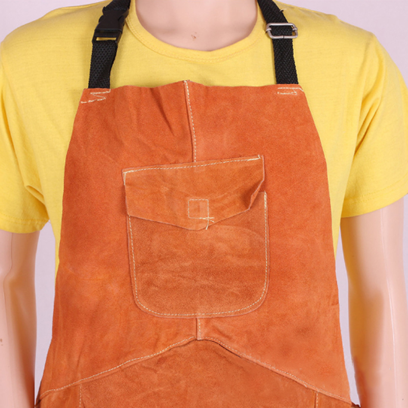 Leather Electric Welder Welding Work Safety Workwear Protective Gear Apron New