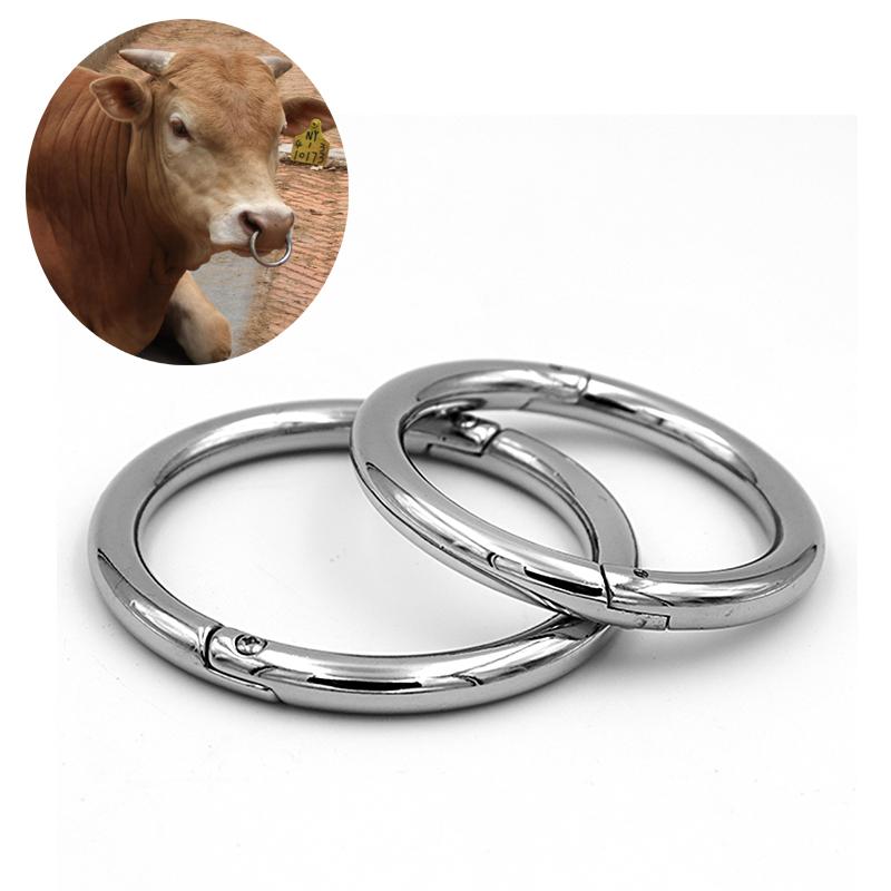 Cow Nose Ring Steel 2 Sizes Farm Animal Cattle Piler Veterinary