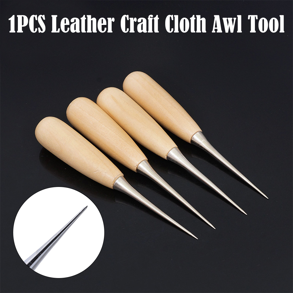 3X Leather Craft Cloth Maker Stitching Overstitch Awl Tool Pin Punching Hole MW
