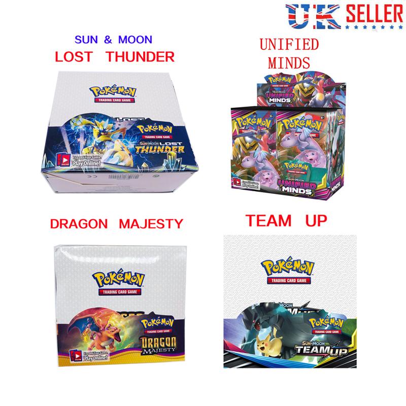 Sun /& Moon TEAM UP Edition 36 Packs Booster Box 324pcs Pokemon card TCG