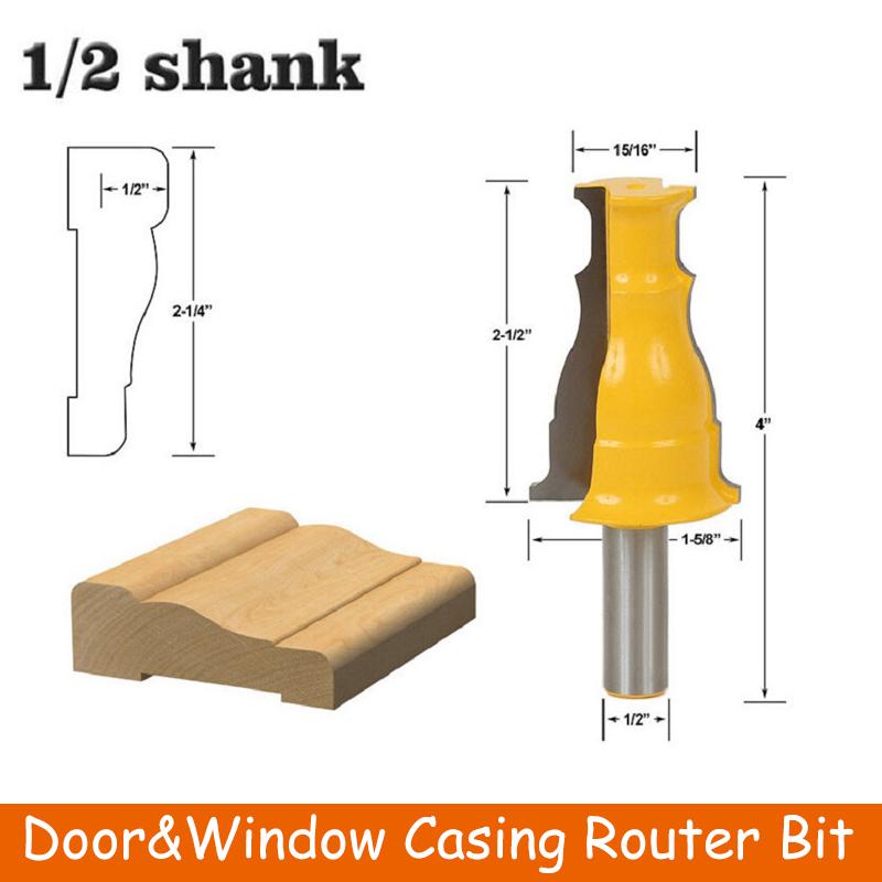 """1//2/"""" Shank Router Bit Window Door Casing Router Bit Milling Cutter Tools"""