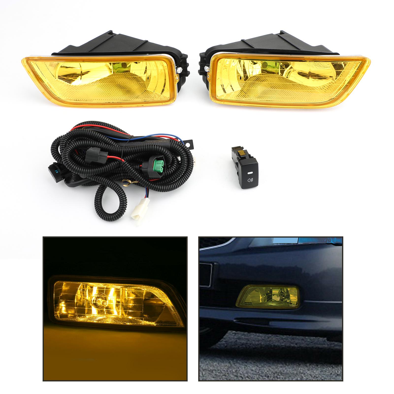 Yellow Lens Fog Lights + Switch For 2003-2007 Honda Accord