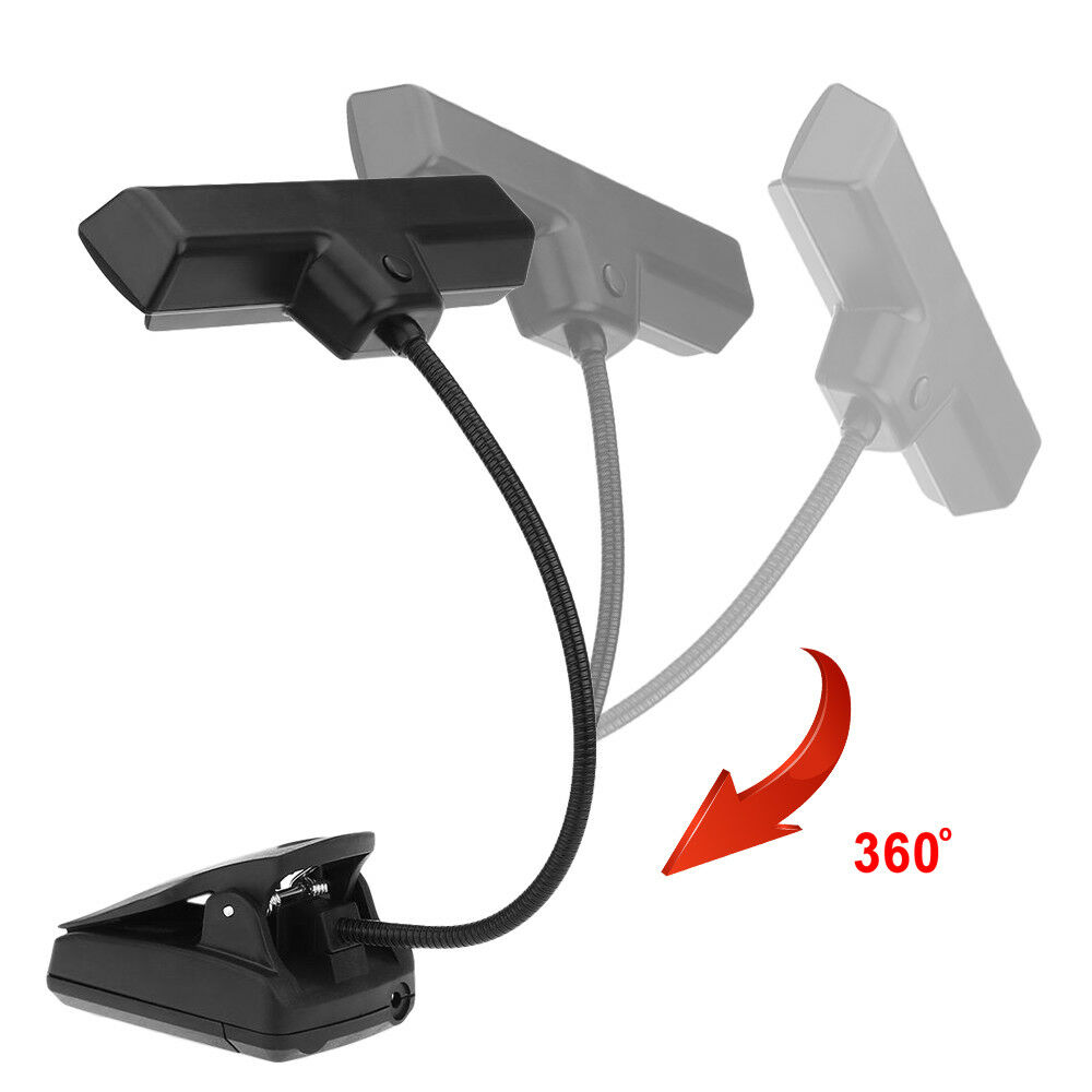 10 led clip on music stand light orchestra sheet book reading lamp usb cable ebay. Black Bedroom Furniture Sets. Home Design Ideas