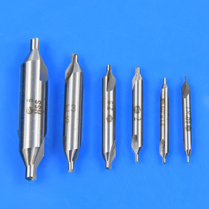 6 Pcs Zentrierbohrer HSS Kombiniert Center Bohrer Senker Drill Bit Set 1-5mm DE
