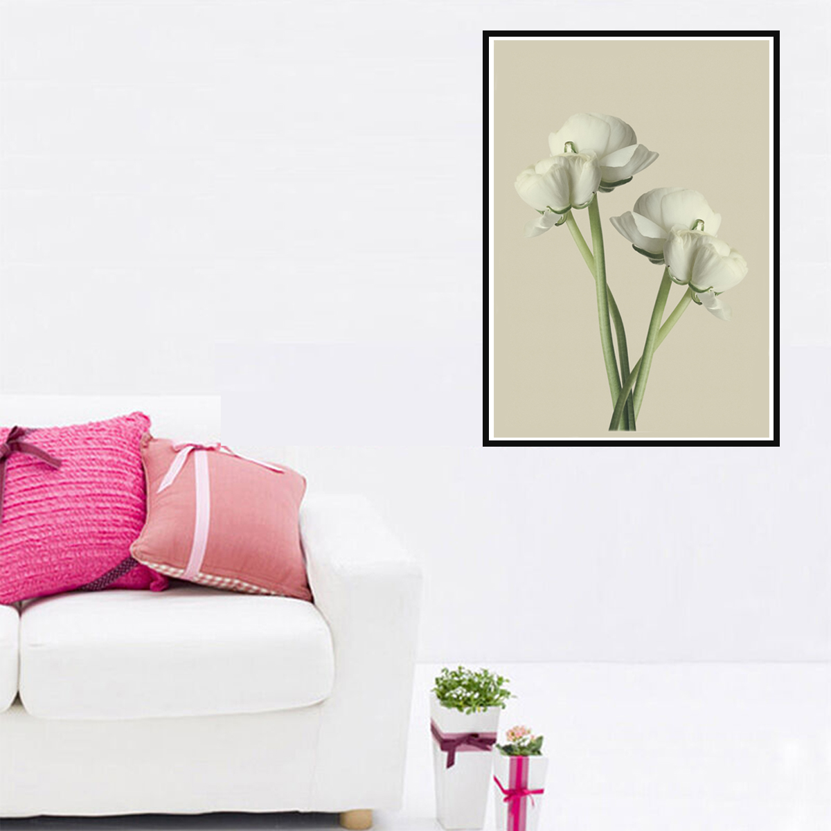 Wall Art Room Poster Canvas Print Flower Gerbera Buttercup Picture Home Decor UK