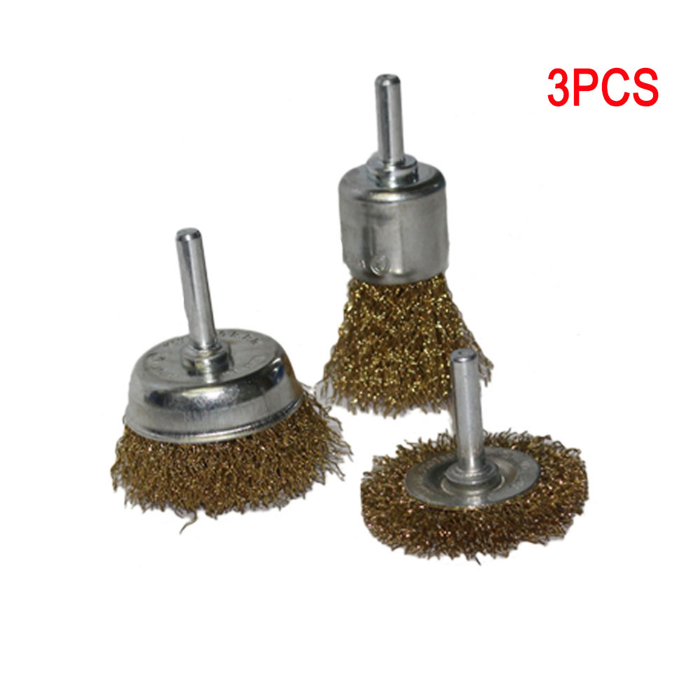 SILVERLINE Wire Wheel /& Cup Brush Set 3pce