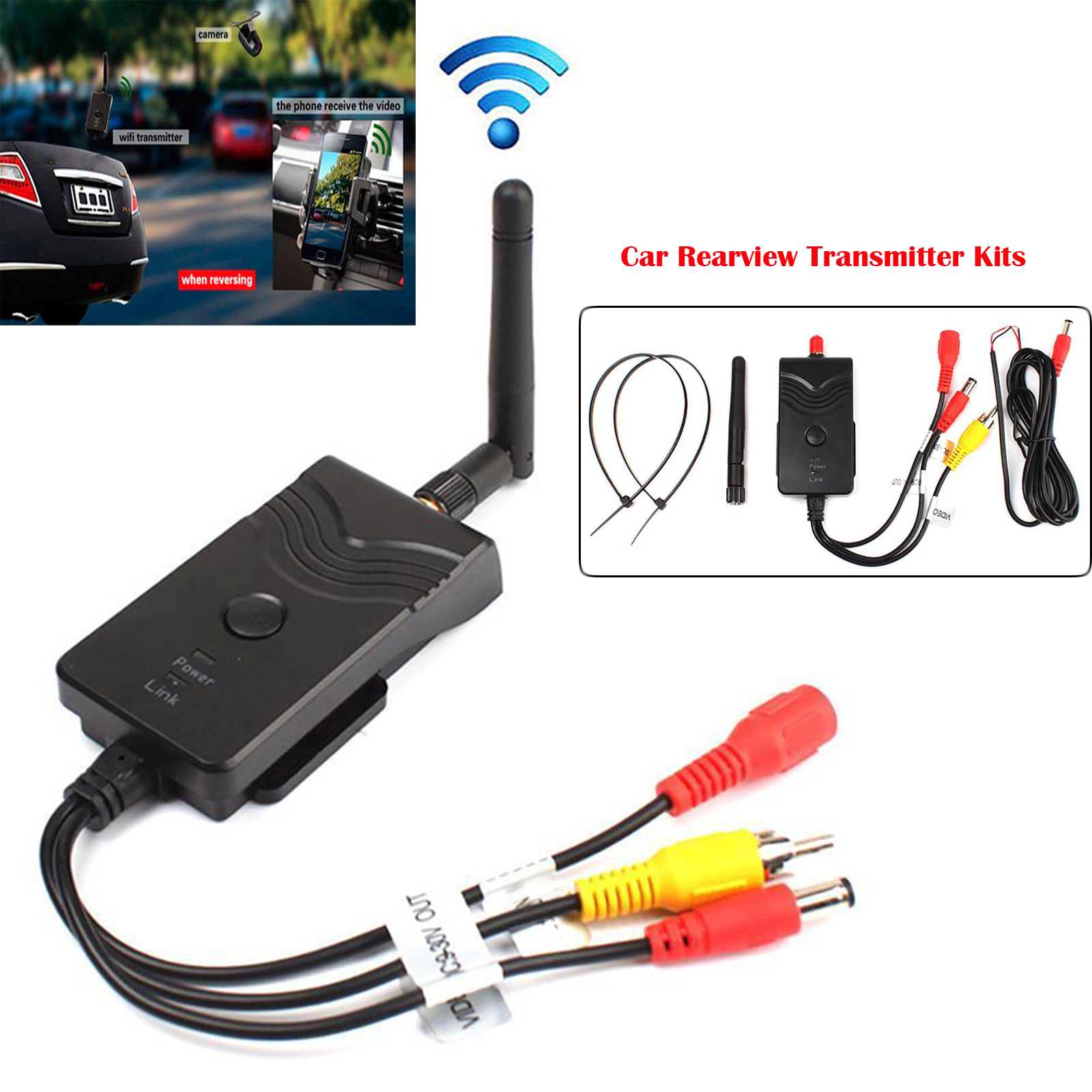 Wifi Car Backup Rearview Camera 903W Video Transmitter For iPhone Android IOS