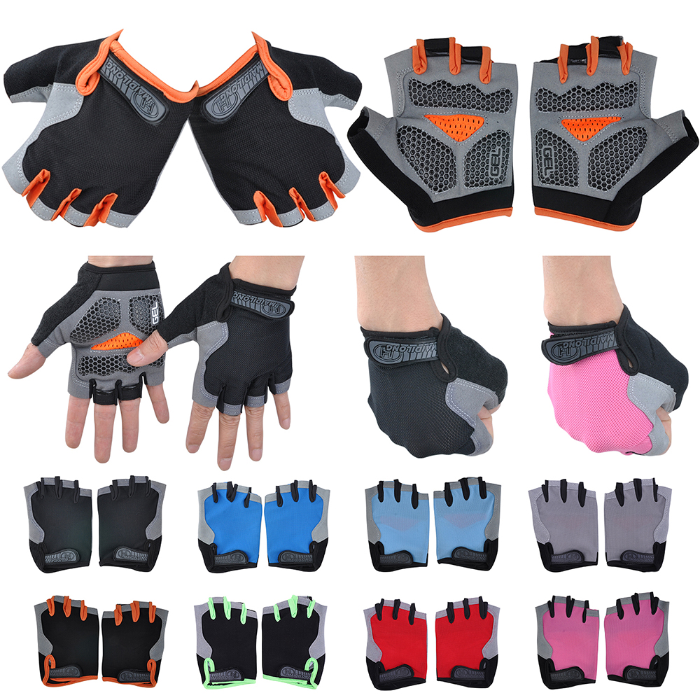 Mens  Cycling Bike Bicycle Half Finger Fingerless Gloves Outdoor Sports