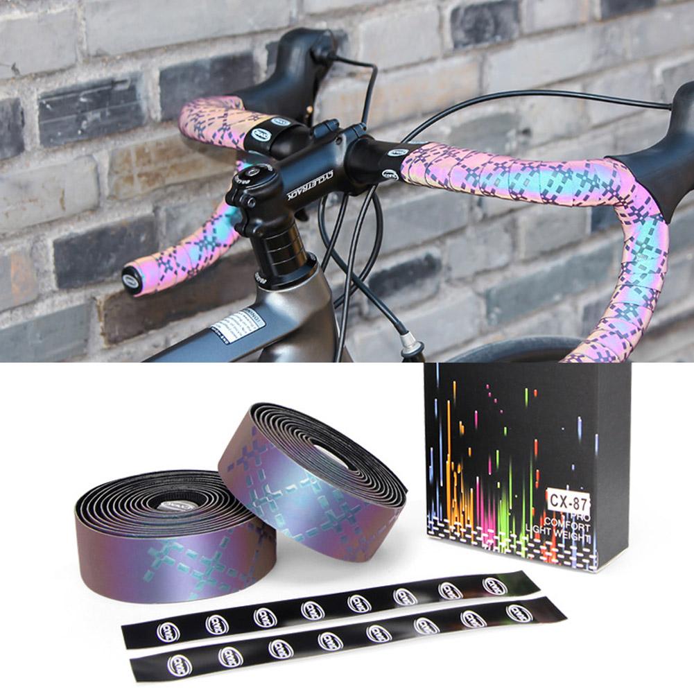 2*//Set Anti-slip Road Bike Handlebar Tape Cycling Bicycle Grip Wrap Bar Plug Kit