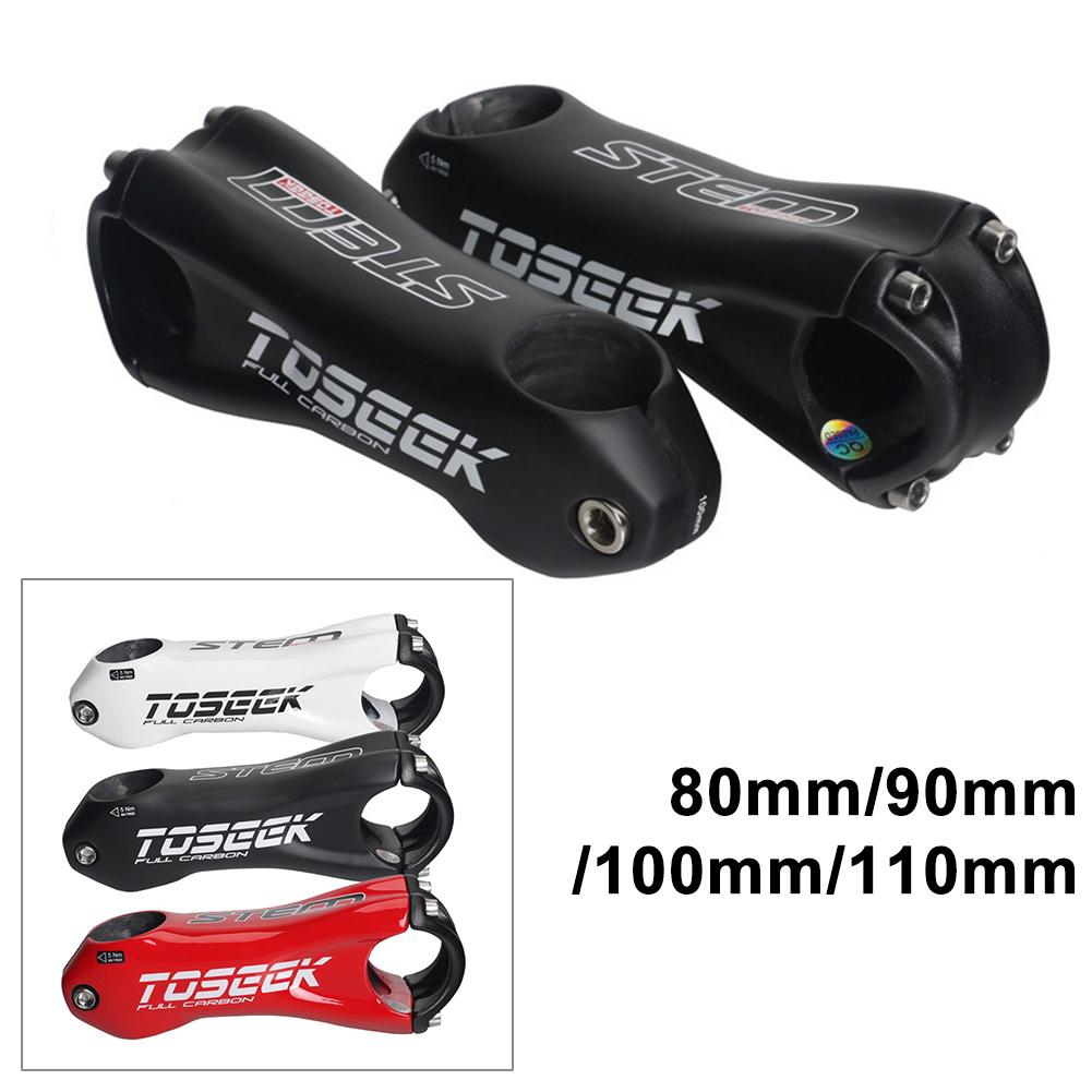 Details about  /TOSEEK Carbon Fiber Bicycle Stem ±10° Road Bike MTB Handlebar Stem 31.8x80-110mm