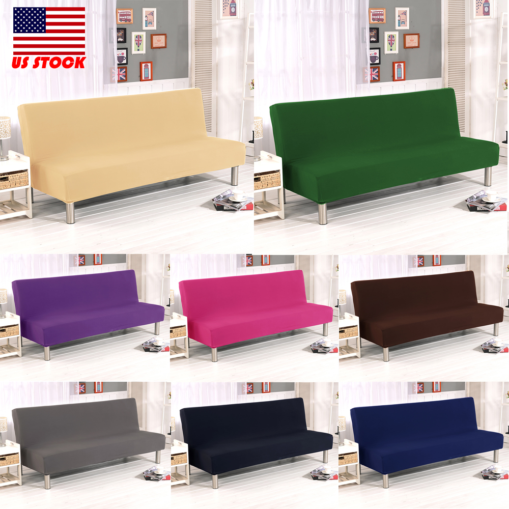 Phenomenal Details About Armless Sofa Bed Cover Futon Slipcover Couch Full Folding Elastic Stretch Hot Us Bralicious Painted Fabric Chair Ideas Braliciousco