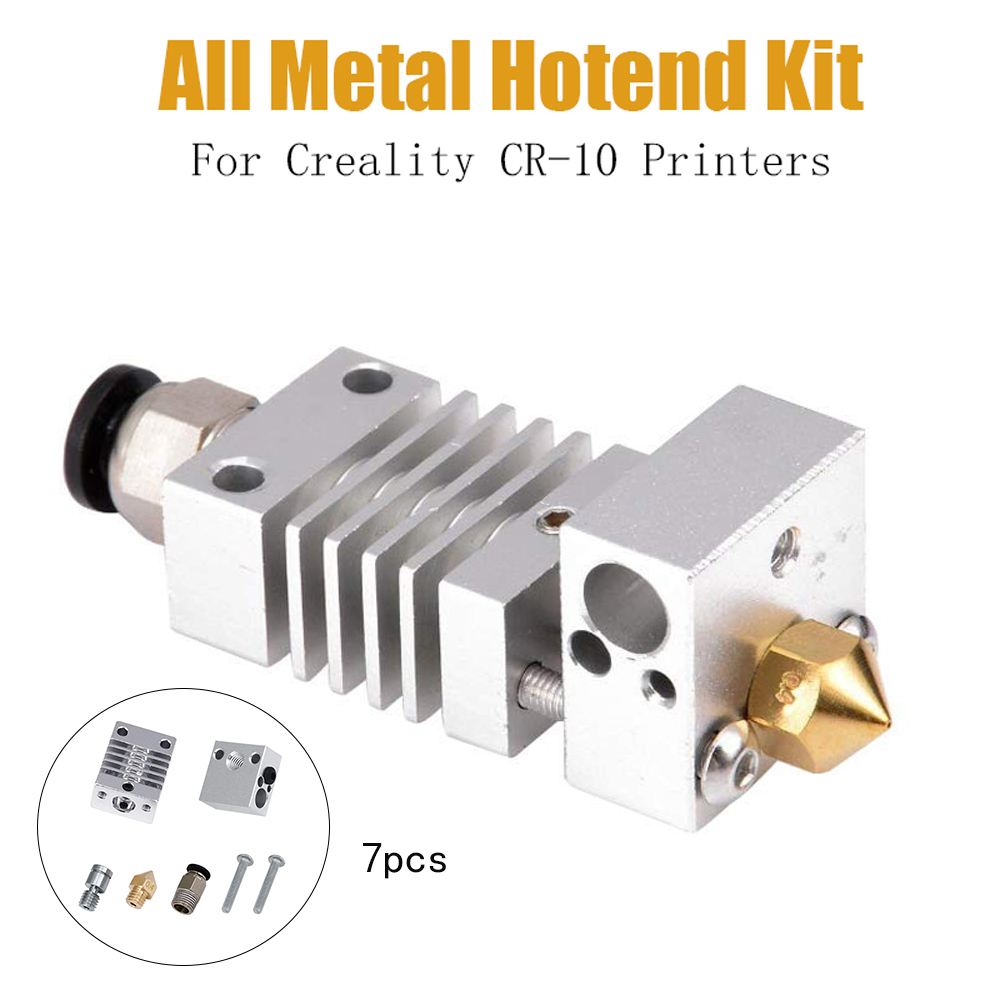 All Metal Hotend Kit Titanium Alloy Thermal Heat Break for CR-10 3D Printer New