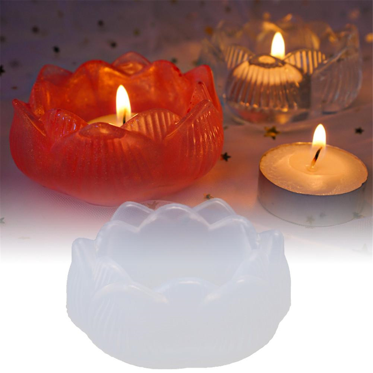 Silicone Mold Lotus Candle Holder Epoxy Resin Mould Diy Jewelry Making Crafts 884885371208 Ebay