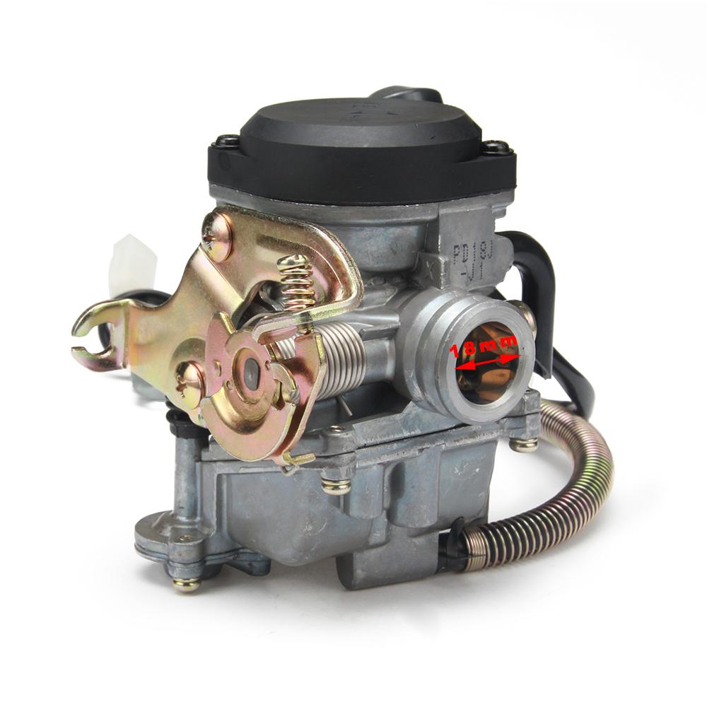 18mm Pd18j Carb Carburetor For Gy6 50cc 139qmb 139qma Manual Guide