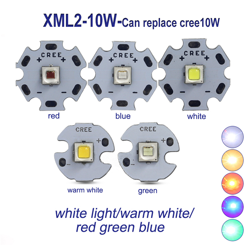 Cree XML2 LED 10W High power LED chip COB Grow light with PCB and DC Driver XML