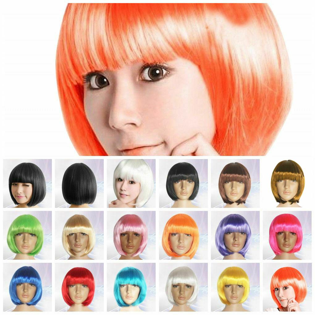 HOT Women Ladies Short Bob Wig Fancy Dress Cosplay Wigs Pop Party Costume UK