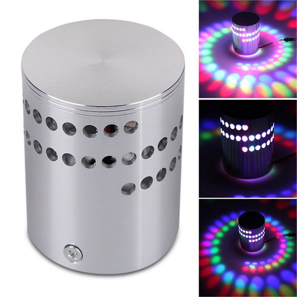 UK 3W Spiral LED Wall Sconce Ceiling Light Walkway Bedroom Porch Hotel Lamp RT5