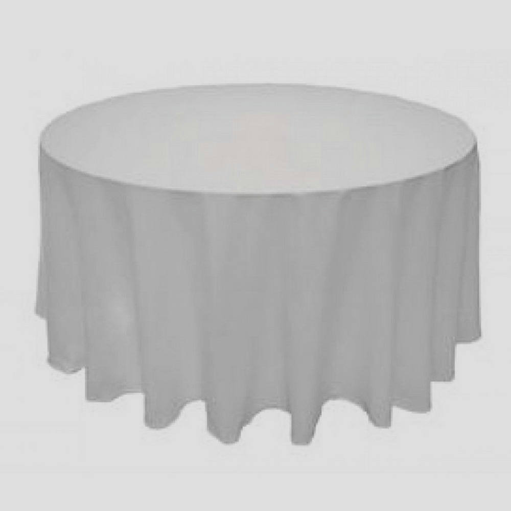 90-034-Table-Covers-Round-Tablecloth-Polyester-Wedding-Party-Banquet-L-039-alysse-White