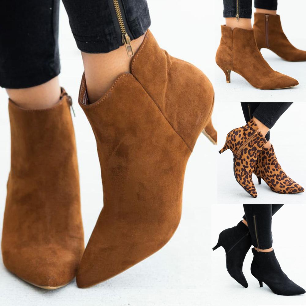 Women's Pointed Toe Kitten Low Heel