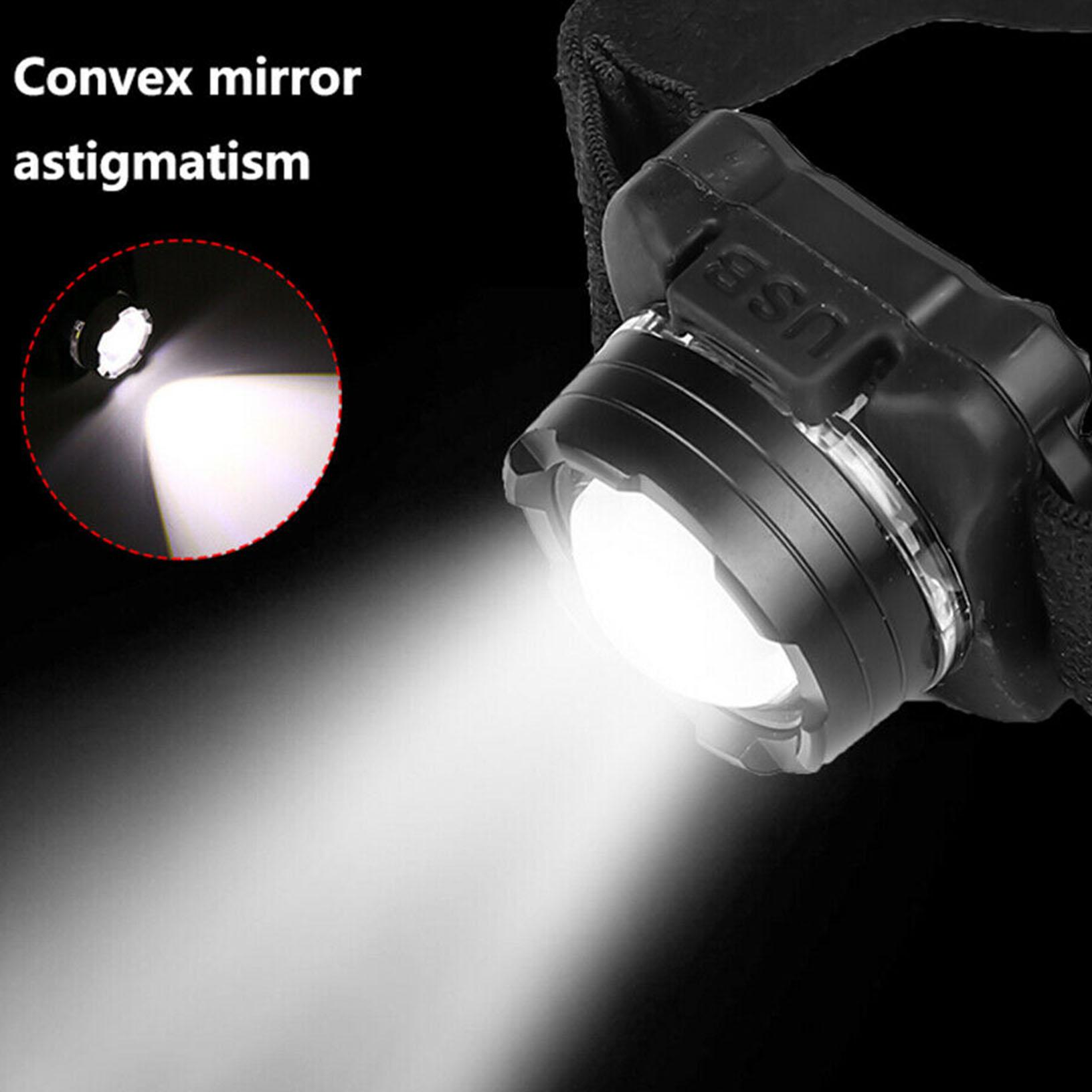 50000LM COB LED Headlamp USB Rechargeable Headlight Fishing Lamp Head Torch