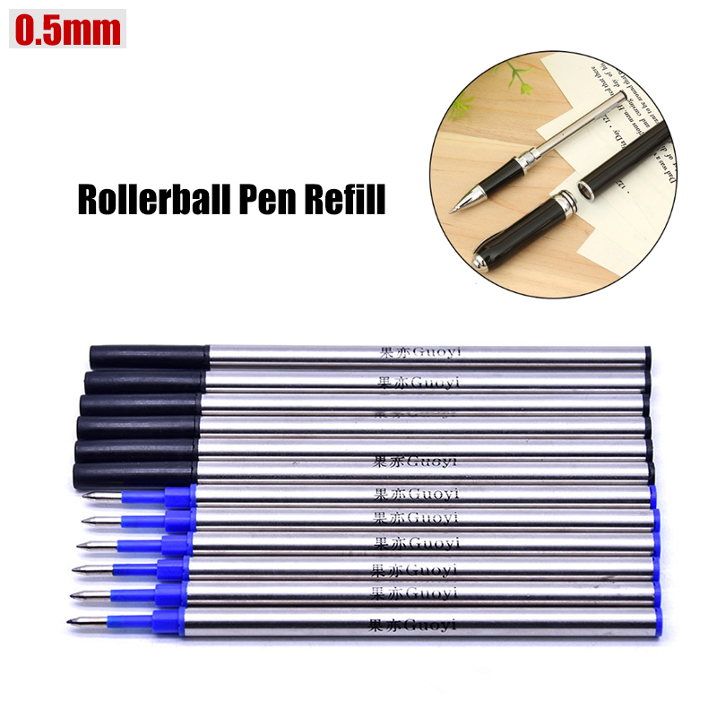 3 x Metal Blue Pen Gel Ink Refill 11cm Replacement Inks Roller Ball Pens