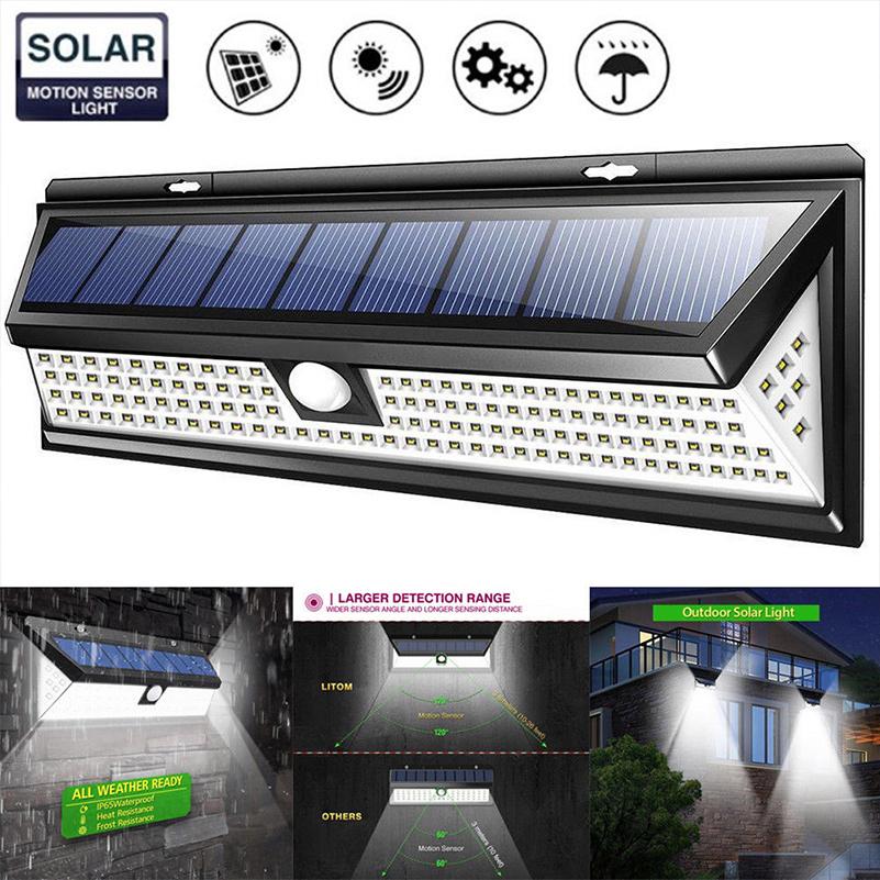EE/_ DV/_ Outdoor Waterproof Super Bright Motion Sensor 48LED Solar Wall Light Lam