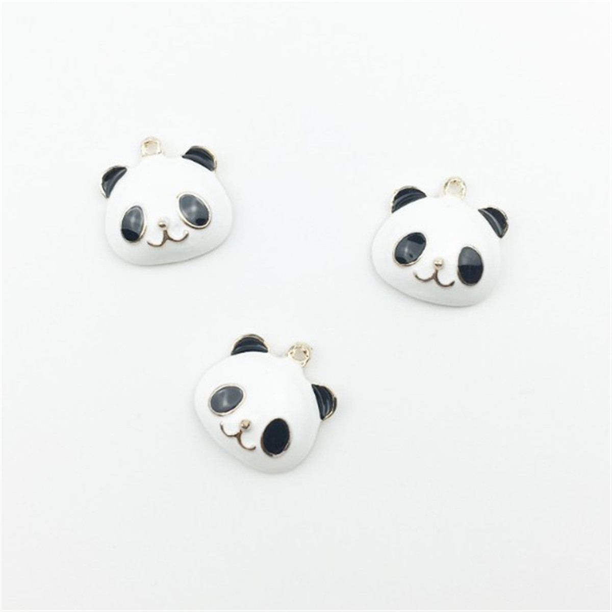 10Pcs Enamel Alloy Pig Cat Panda Charms Pendants For DIY Jewelry Making Craft